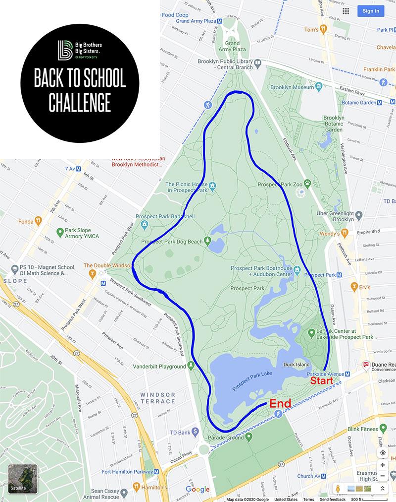 Back to School Half-Marathon Route